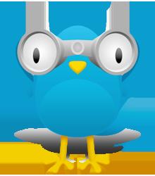 Fugl med kikkert.
