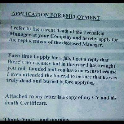 Kreativ jobansøgning