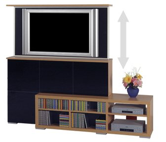 tv lift m bel skab. Black Bedroom Furniture Sets. Home Design Ideas