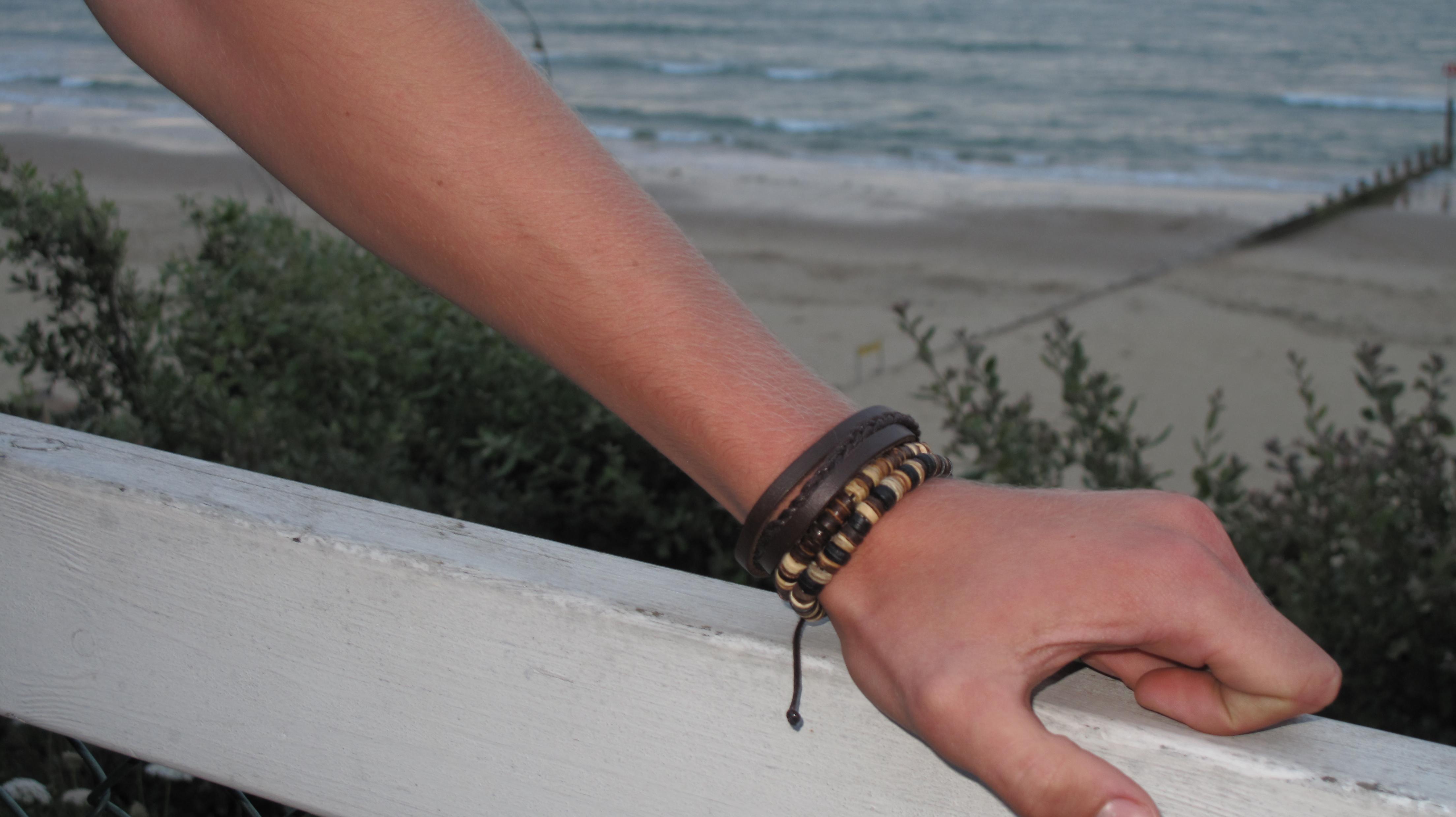 armbånd til mænd perler