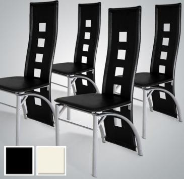 Farverige spisebordsstole for Sedie nere ecopelle
